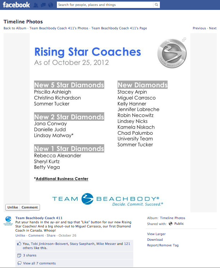 First Team Beachbody Diamond Coach in Canada Beachbody