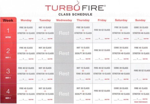 Pin Sample Workout Schedule Blank On Following Page on Pinterest