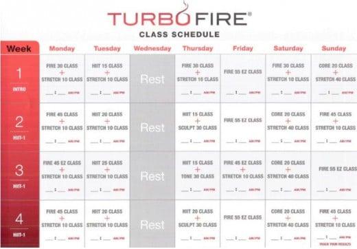 TurboFire Class Schedule