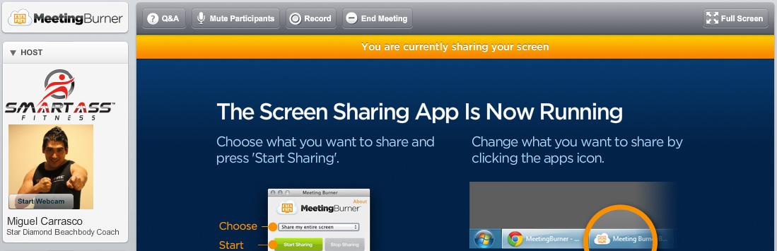 beachbody screen sharing