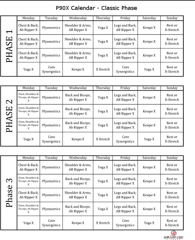 It is a photo of Exhilarating Printable P90x Workout Schedule