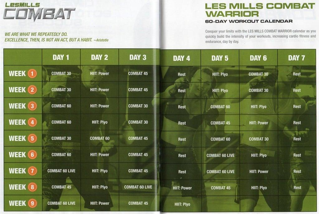 Les Mills COMBAT Schedule