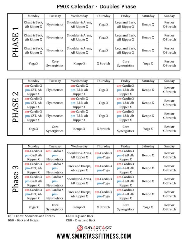 Doubles P90X Schedule | Smart Ass Fitness