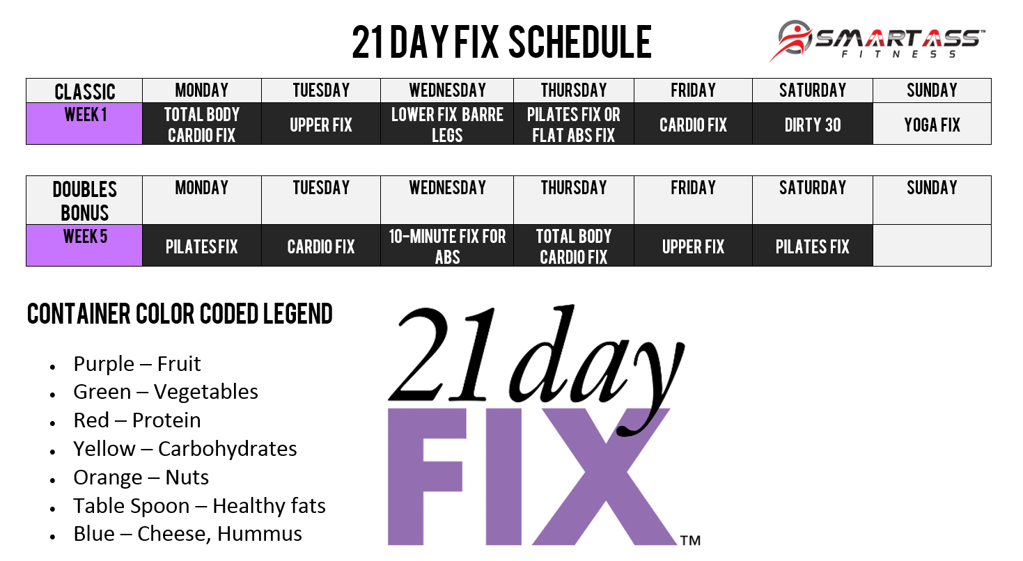 21 Day Fix Schedule