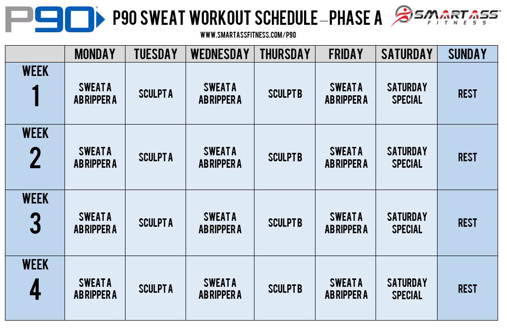 P90 Workout Schedule