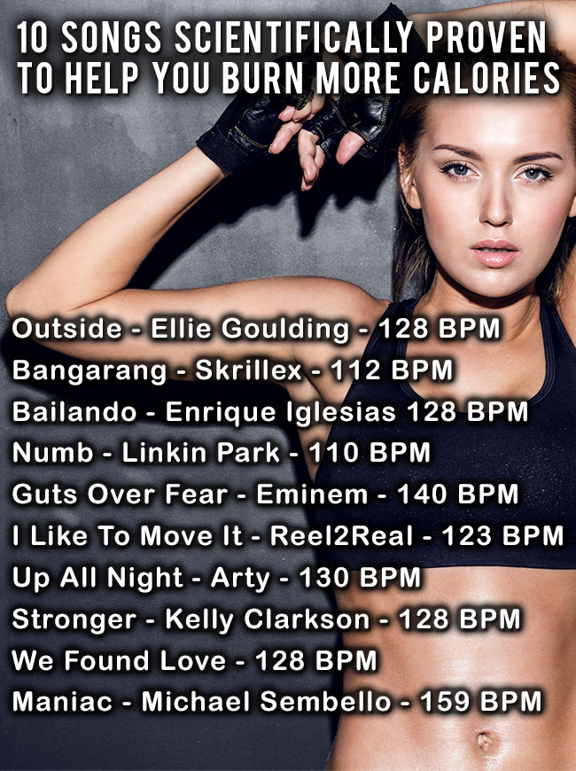 10 Songs To Help You Burn Calories